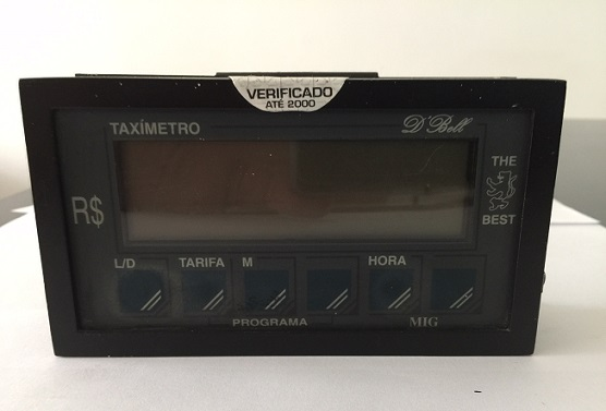 1º Taxímetro com Display LCD do Brasil , MIG 23 , 1990